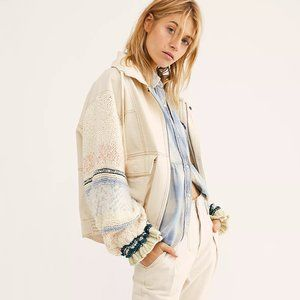 NWT Free People Loose Thoughts Denim Jacket